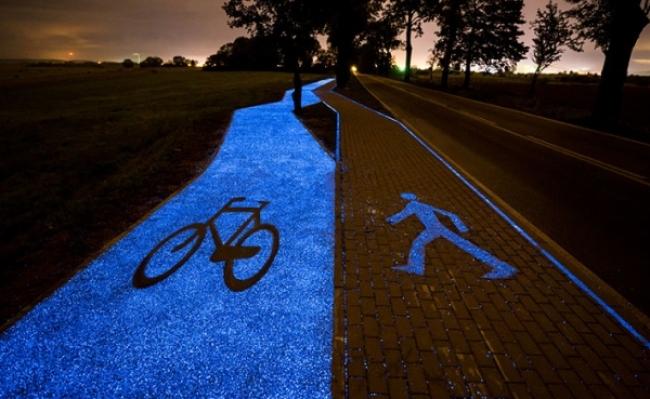 Pista de bicicleta solara ecologica in Polonia