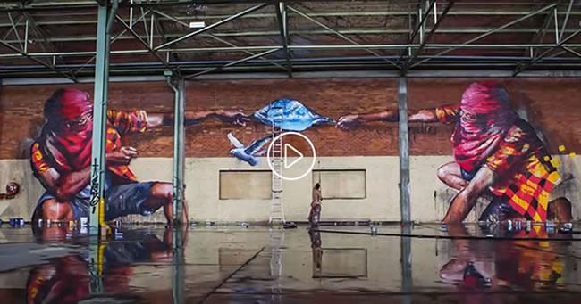 Limitless – Grafitti de exceptie intr-un depozit