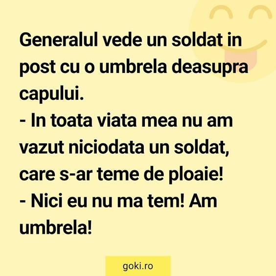 Soldatul cu umbrela